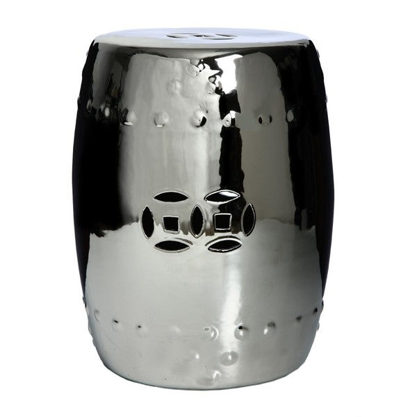 Handmade Chrome Porcelain Garden Stool (China)