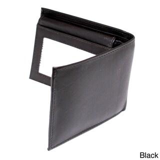 Kozmic Men's Fine-Grain Leather Bifold Wallet