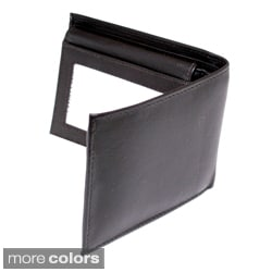 Kozmic Men's Fine-Grain Leather Bifold Wallet