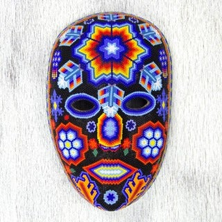 Handmade Beadwork 'Star Man' Mask (Mexico)