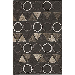 Artist's Loom Hand-tufted Contemporary Geometric Rug (5'6 x 7'9) - Thumbnail 0