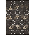Artist's Loom Hand-tufted Contemporary Geometric Rug (5'6 x 7'9)