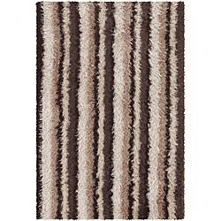 Artist's Loom Hand-woven Shag Rug (5'6 x 7'9) - Thumbnail 0