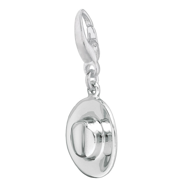 Shop Sterling Silver Cowboy Hat Charm - Free Shipping On Orders Over  45 -  Overstock - 3885479 41f98c0ab623