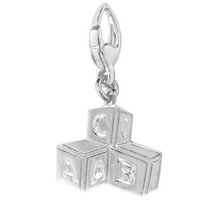 Sterling Silver 'Baby Blocks' Charm