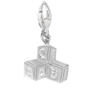 Sterling Silver 'Baby Blocks' Charm