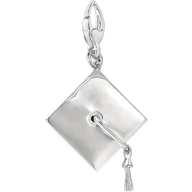Sterling Silver Graduation Cap Charm