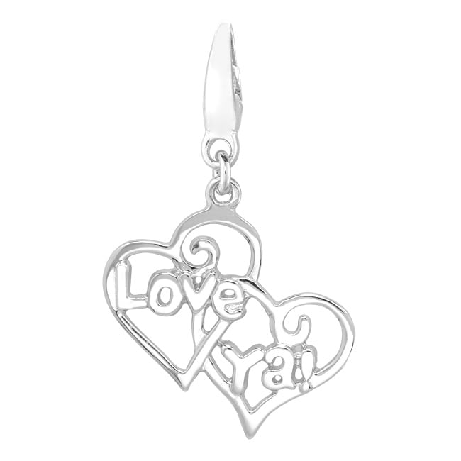 Sterling Silver 'Love Ya' Heart Charm