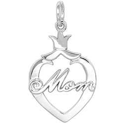 Sterling Silver Mom Charm