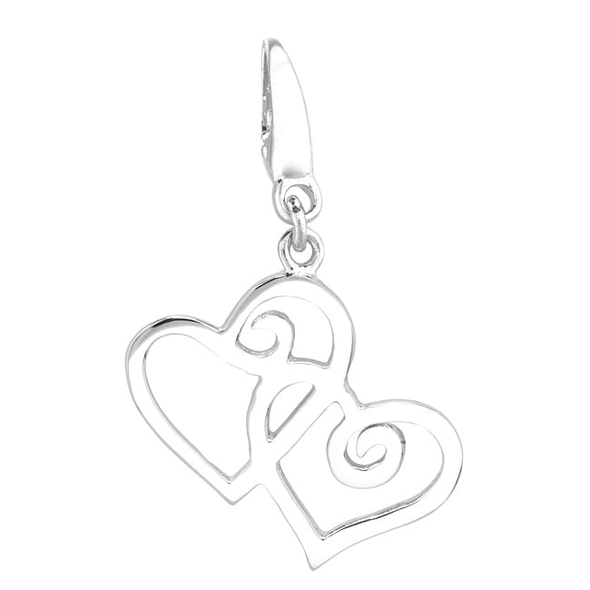 Sterling Silver '2 Hearts' Charm