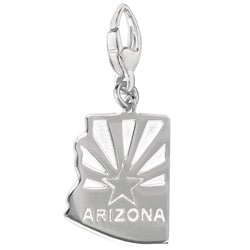 Sterling Silver Arizona Charm