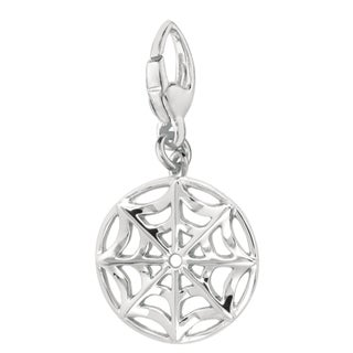 Sterling Silver Spider Web Charm