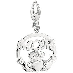 Sterling Silver Claddagh 'Mom' Charm