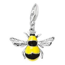 Sterling Silver/ Enamel Bumblebee Charm