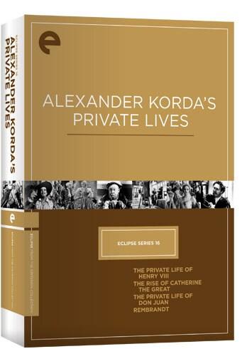 Eclipse Series 16: Alexander Korda's Private Lives (DVD)