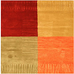 Hand-tufted Wool Contemporary Dorado Rug (6' Square)