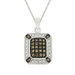 DB Designs Sterling Silver 1/4ct TDW Brown Diamond Necklace