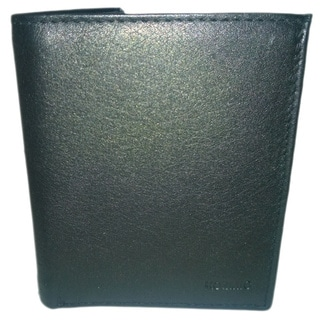 Kozmic Men's Black Leather 'Quadra' Wallet
