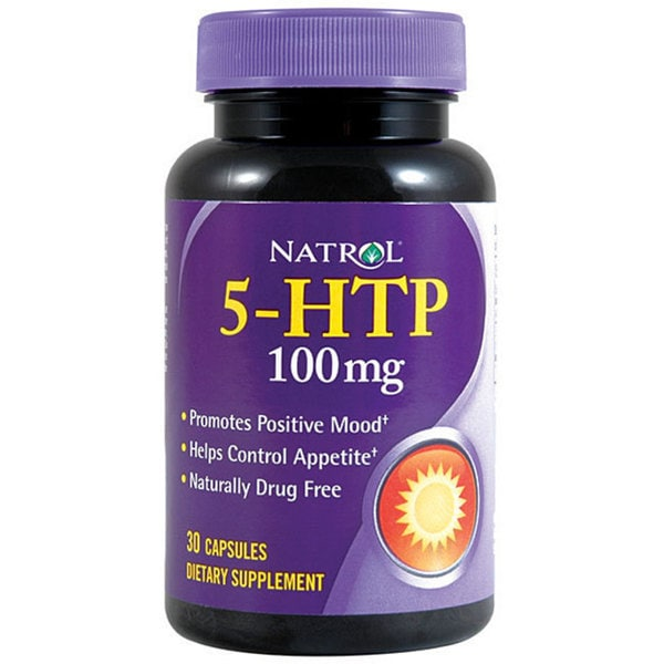 Natrol 5-HTP 100mg Vitamin Supplements (Pack of 2 30-count Bottles)