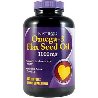 Natrol Flax Seed Oil 1000mg 200-tablet Bottles (Pack of 2)