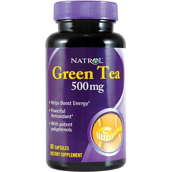 Natrol Green Tea 500mg Tablets (Pack of 4 60-count Bottles)
