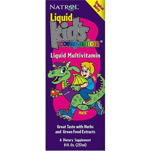 Natrol Kid's Companion Multiple Tropical Berry 8-ounce Liquid (Pack of 2)