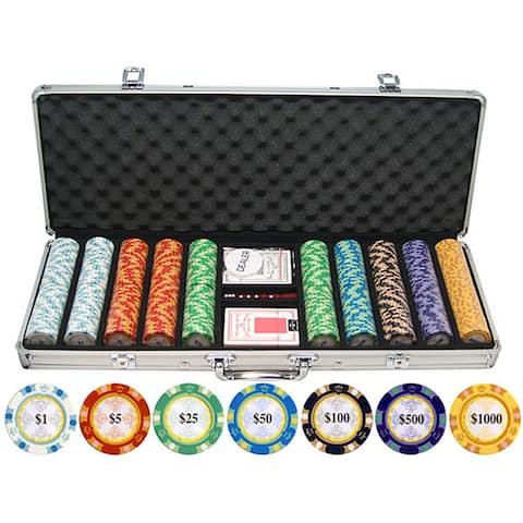 Monte Carlo 13.5-gram 500-piece Clay Poker Chips