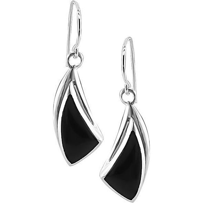 Sterling Silver Black Onyx Earrings  (Set of 6)