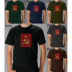 Los Angeles Pop Art Men's Soviet Flag T-shirt