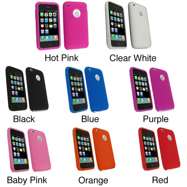 INSTEN Textured Soft Silicone Skin Phone Case Cover for Apple iPhone