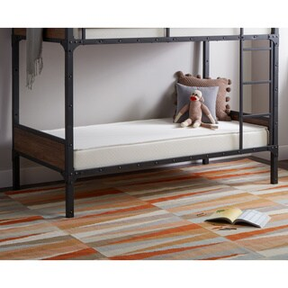 Select Luxury Flippable 6-inch White Bunk Bed Twin-size Foam Mattress