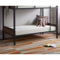 Shop Twin Over Twin Wood And Black Metal Pipe Bunk Bed