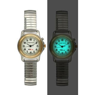 Timetech Women's Glo-brite Dial Silvertone Expansion Watch|https://ak1.ostkcdn.com/images/products/3892329/3892329/Timetech-Womens-Glo-brite-Dial-Silvertone-Expansion-Watch-P11937564.jpg?impolicy=medium