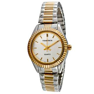 Timetech Women's Expansion Strap Two-tone Watch|https://ak1.ostkcdn.com/images/products/3892330/3892330/Timetech-Womens-Expansion-Strap-Two-tone-Watch-P11937563.jpg?impolicy=medium