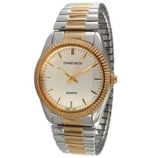 Timetech Men's Expansion Strap Two-tone Watch