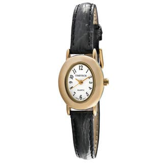 Timetech Women's Leather Strap Watch|https://ak1.ostkcdn.com/images/products/3892344/3892344/Timetech-Womens-Leather-Strap-Watch-P11937570.jpg?impolicy=medium