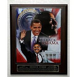 Barack Obama Picture Plaque