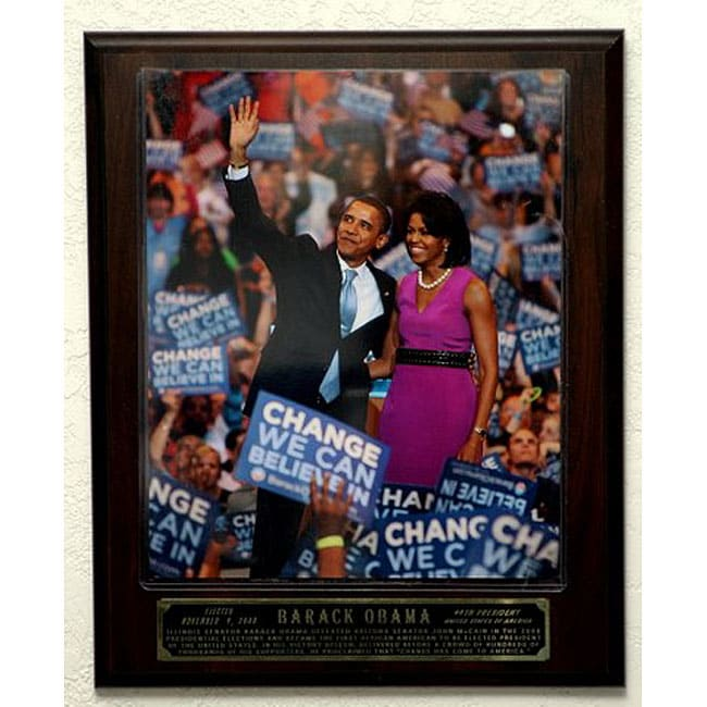 Barack and Michelle Obama Picture Plaque