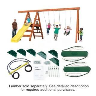 Swing-N-Slide Pioneer Swing Set DIY Hardware Kit (lumber not included) - 192L x 168W x 96H
