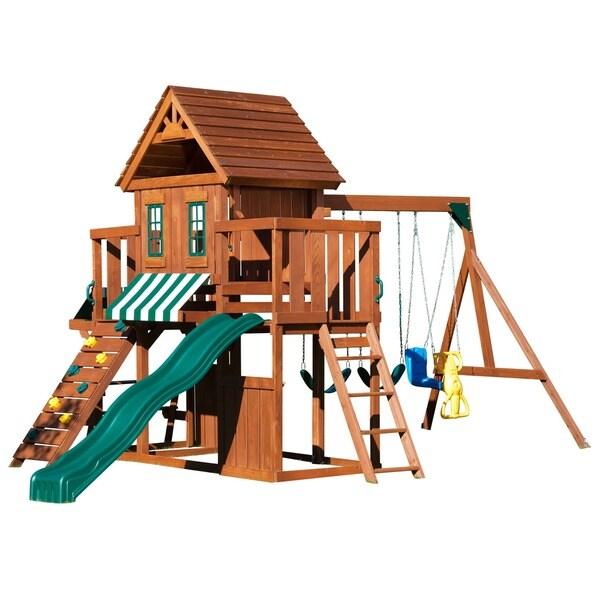 Swing N Slide Winchester Wood Swing Set Kit Free