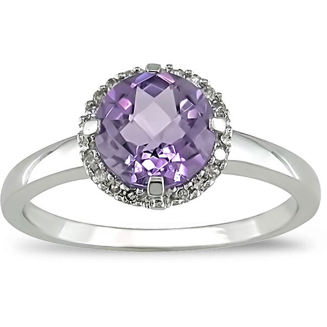 Miadora 10k Gold Amethyst and Diamond Accent Ring