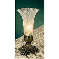 White 8-inch Buffet Lamp