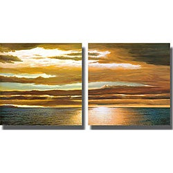 Dan Werner 'Reflections on the Sea' 2-piece Art Set