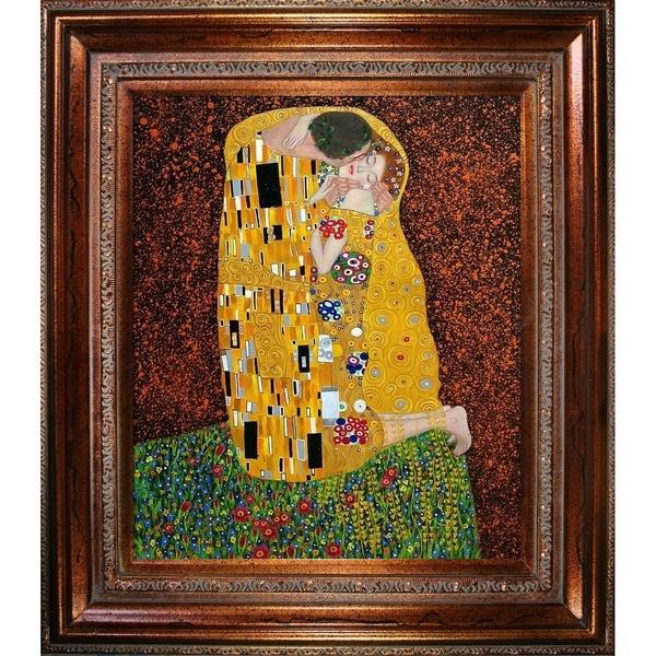 Shop Gustav Klimt The Kiss Full View Hand Painted Oil