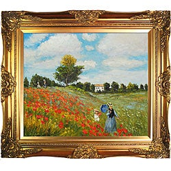 Claude Monet 'Poppy Field in Argenteuil' Framed Art