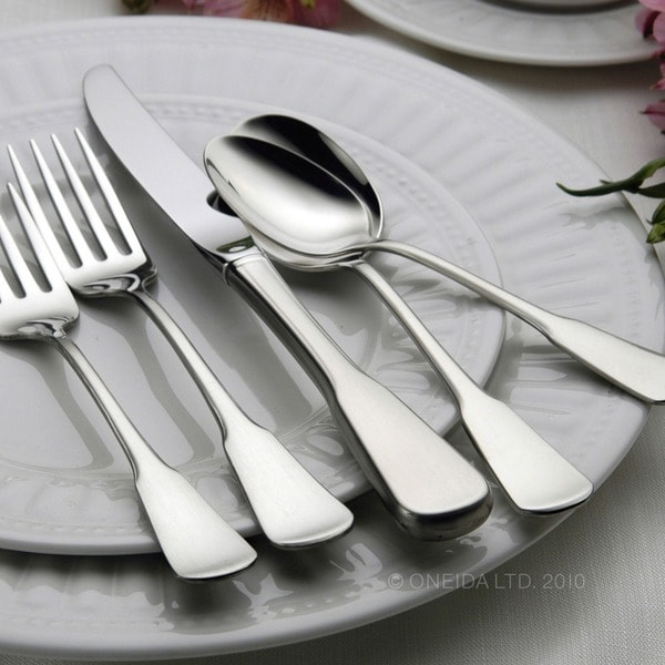 Oneida Colonial Boston Stainless Steel 20-piece Flatware Set (Service for 4). Opens flyout.