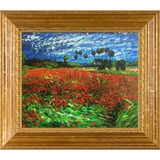 Van Gogh 'Field of Poppies' Canvas Art