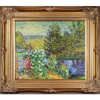 Monet 'Corner of the Garden at Montgeron' Medium-Sized Canvas Art