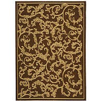 Safavieh Mayaguana Brown/ Natural Indoor/ Outdoor Rug (4' x 5'7) - 4' x 5'7