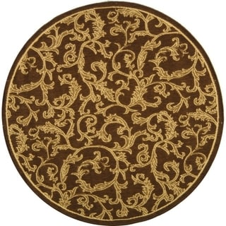 Safavieh Mayaguana Brown/ Natural Indoor/ Outdoor Rug (5'3 Round)